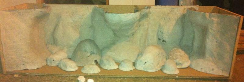 décor aquarium mortier